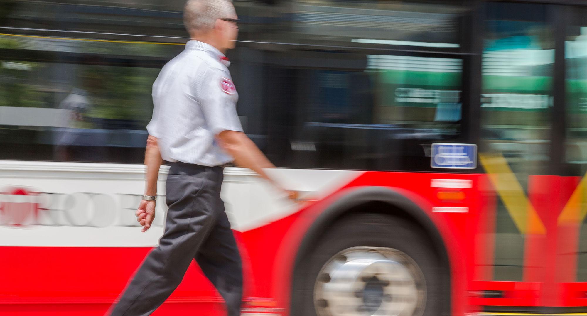 Image: Operator Walking to Metro Bus