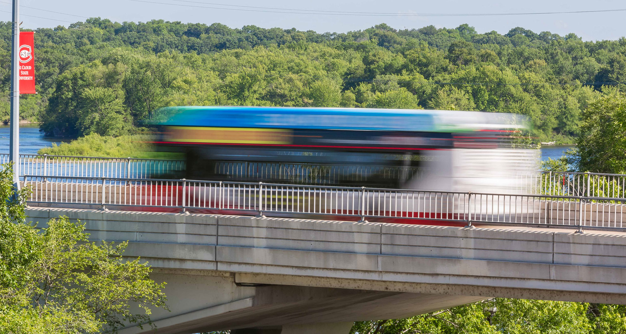 IMAGE: Metro Bus on Bridge