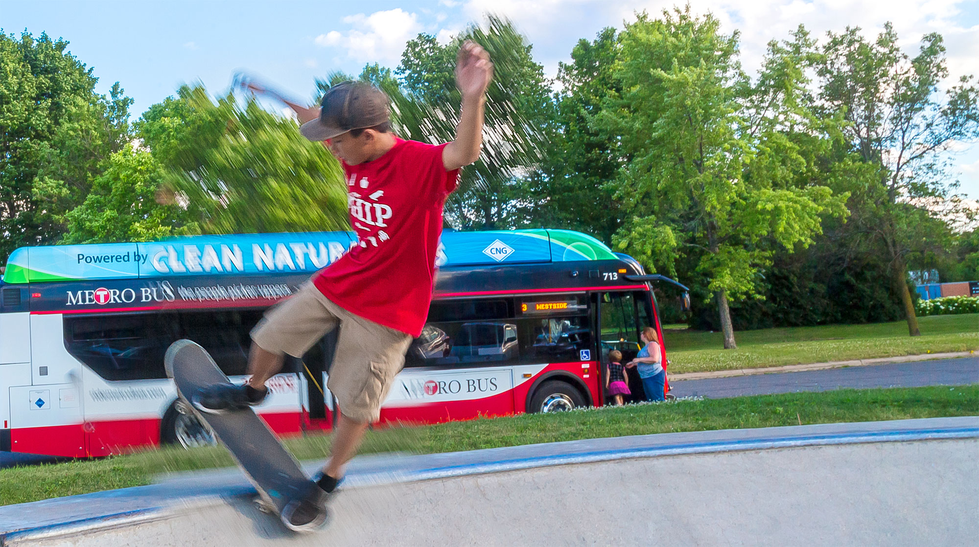 IMAGE: Metro Bus at Skate Park