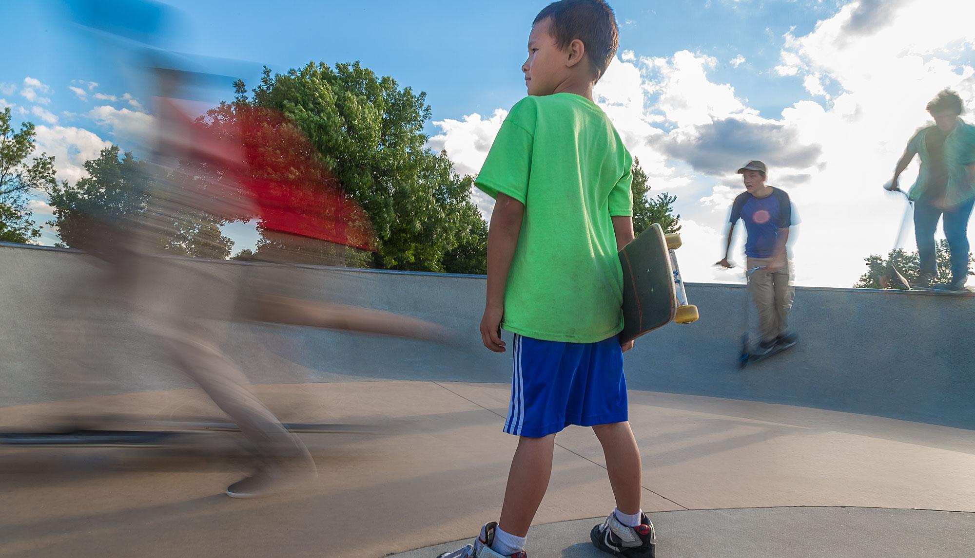 IMAGE: Kids at Skate Park