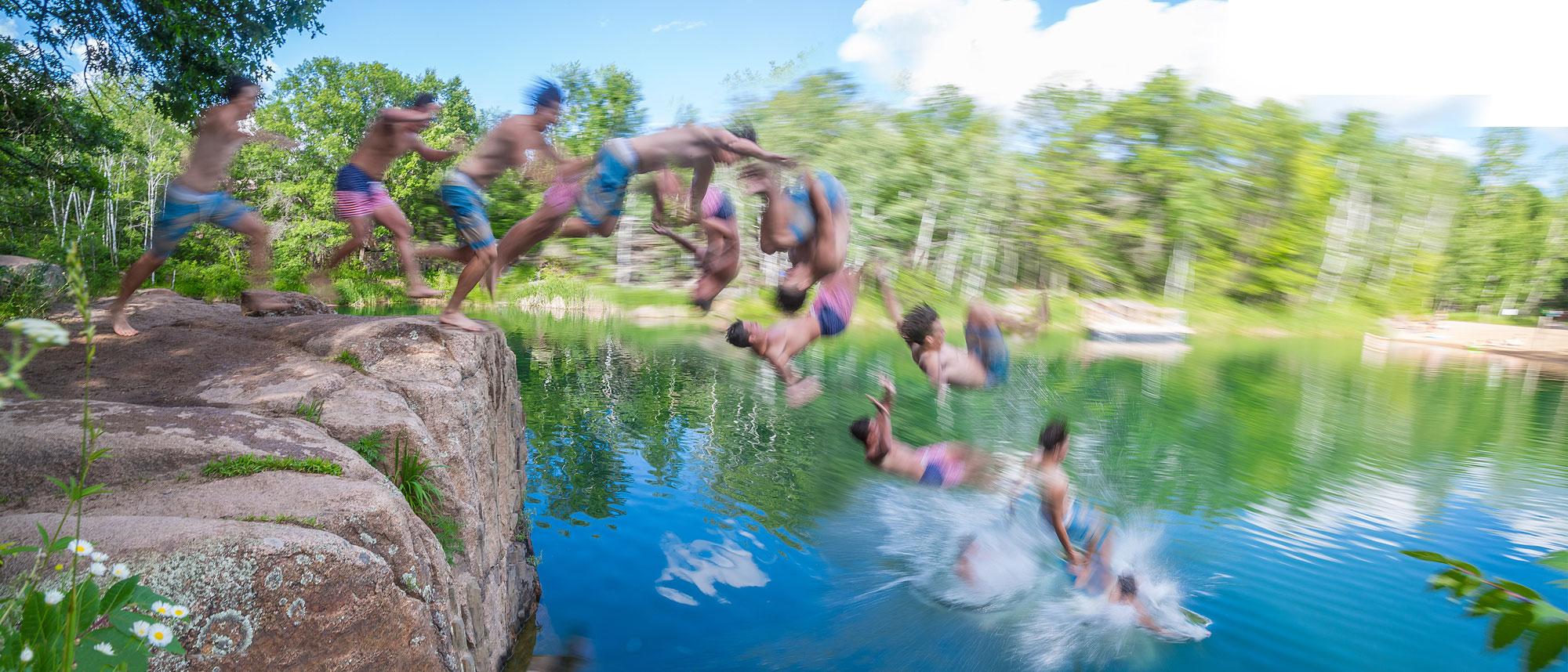 IMAGE: Jumping Into Quary Lake