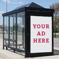 Metro bus shelter ad option