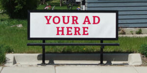 Example of a Metro Bus Bench ad